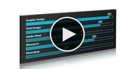 Adobe Muse Tutorial - Create animated skill bars in Muse