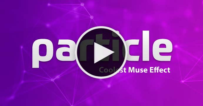 Adobe Muse Tutorial - Awesome Particles interactive effect for Adobe Muse