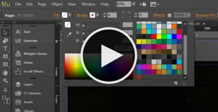 Adobe Muse Tutorial - Muse Basics - Working with swatch libraries