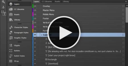 Adobe Muse Tutorial - Working with layers in Muse