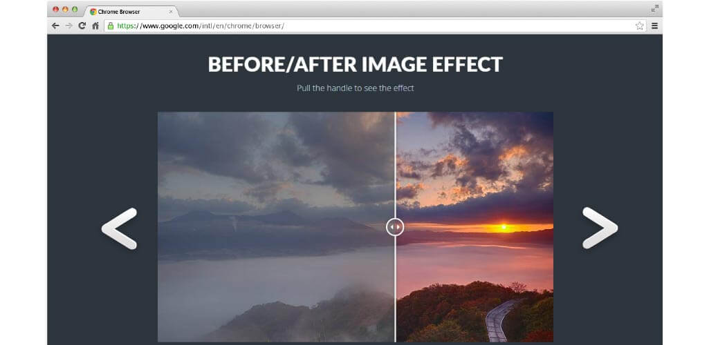 Before and After Image Effect Muse Widget Hero Image