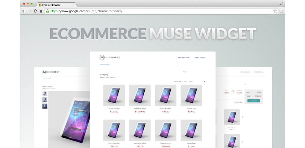 Ecwid eCommerce Muse Widget - Hero image - MuseShop.net