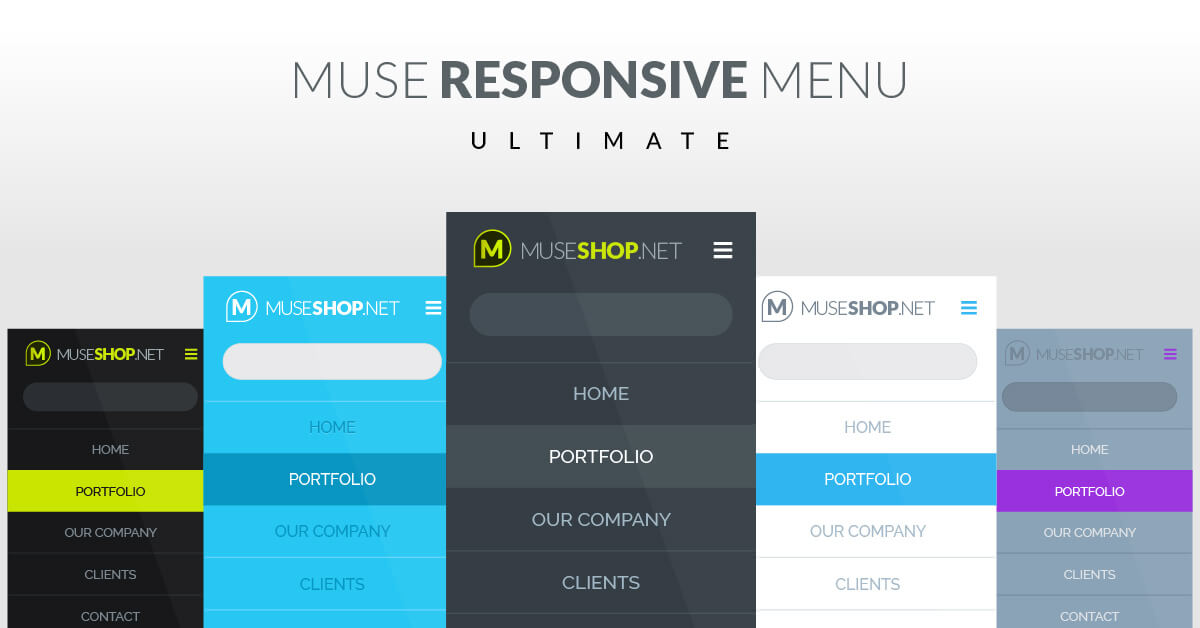 Muse Responsive Menu Widget Ultimate | Best on market