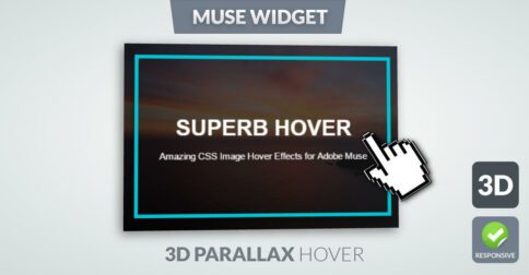 3D Parallax Image Hover Effect Muse Widget - Featured Image