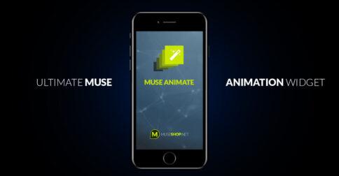 Muse Animate - Animation Engine Muse Widget - Featured Image