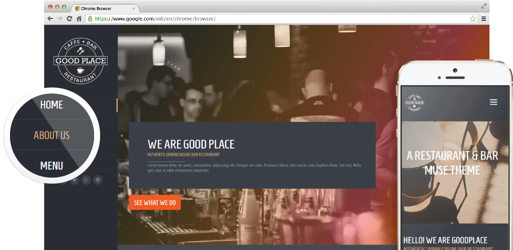 Good Place | Restaurant & Cafe Responsive Muse Theme | MuseShop.net