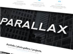 Darkwell is the only Responsive AND Parallax Muse Theme