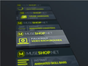 Darkwell comes with 10 premium Muse Widgets