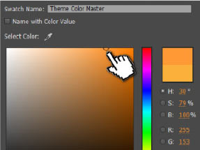 One Click Color Change - Instantly change theme color in Muse