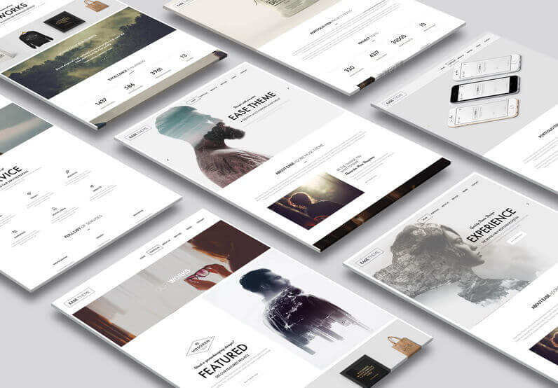 Ease Theme Adobe Muse Template - Features Section 1