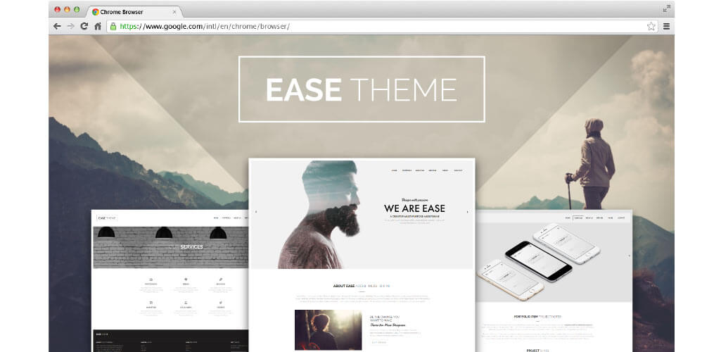 Ease Theme Beautiful Creative Multipurpose Muse Theme Is Here