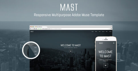 Mast Responsive Muse Theme - Share Image