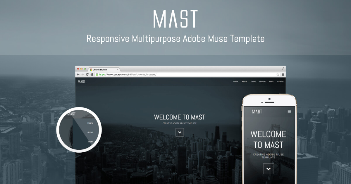 Mast Awesome New Multipurpose Responsive Adobe Muse Theme