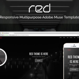Red Adobe Muse Theme - Share Image