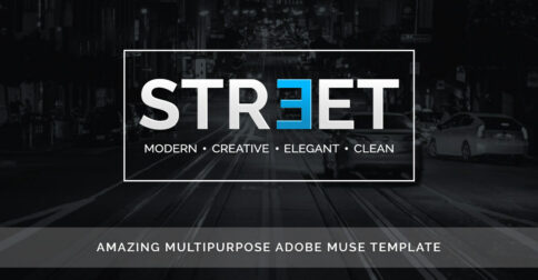 Street Adobe Muse Theme - Share image