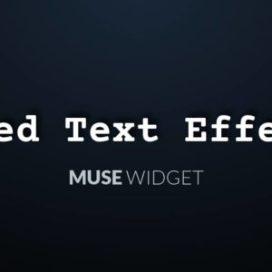 Typed Text Effect Muse Widget - Featured Image