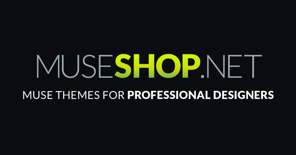 Muse Templates Muse Themes For Top Muse Designers Museshop