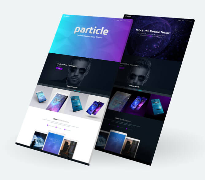 Particle Muse Theme Features Section 1