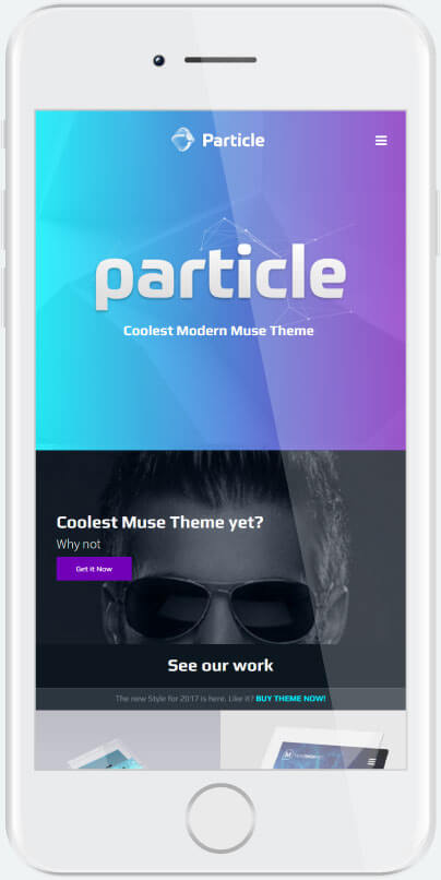 Particle Muse Theme Features Section 2
