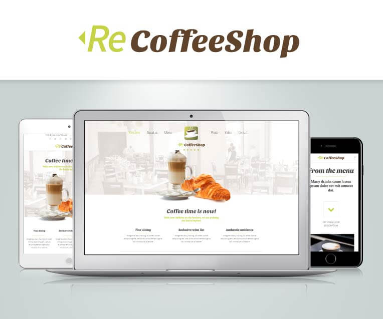 ReCoffeeShop Adobe Muse Theme - Features 1