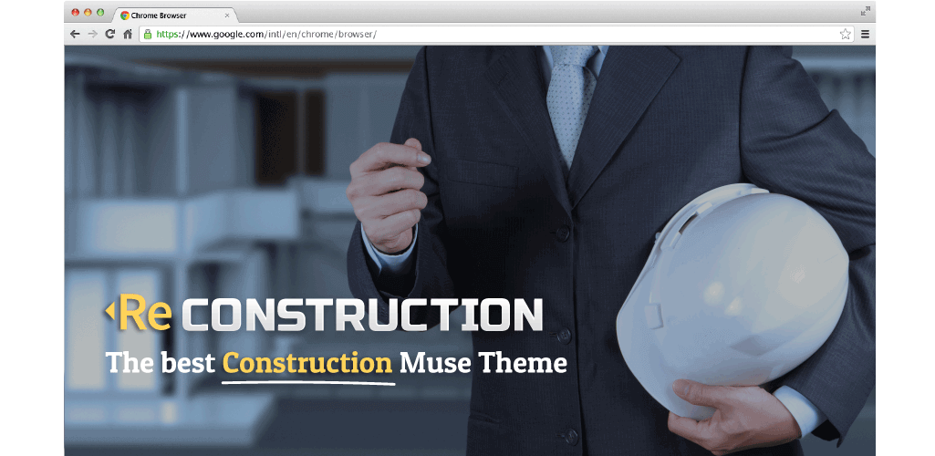 ReConstruction Muse Template Hero Image