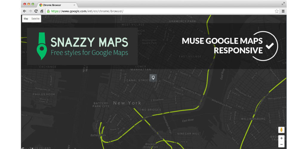 Snazzy Maps Muse Widget - Hero Image