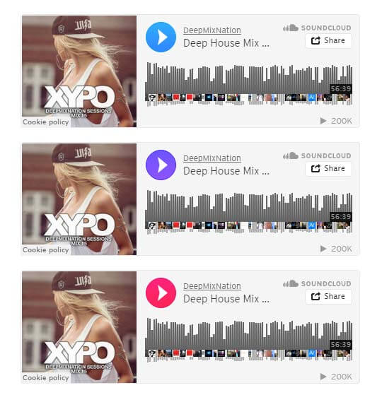 SoundCloud Player Muse Widget - Features 1