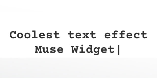 Typed Text Effect Muse Widget - Features