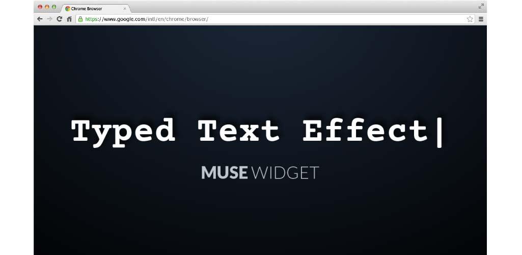 Typed Text Effect Muse Widget - Hero Image
