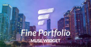 Fine portfolio thumbnails Adobe Muse Widget - Share Image