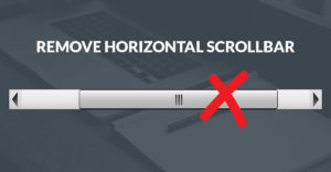 Remove Horizontal Scrollbar Adobe Muse Widget Product Image