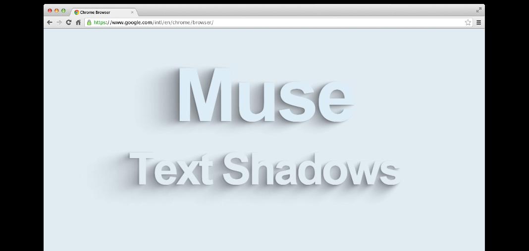 Animated Text Shadows Adobe Muse Widget Hero Image