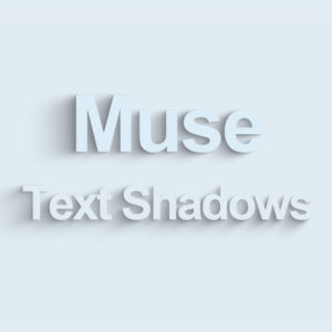Animated Text Shadows Adobe Muse Widget by MuseShop.net - Product Image