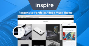 Inspire Portfolio Adobe Muse Template by MuseShop.net - Featured Image