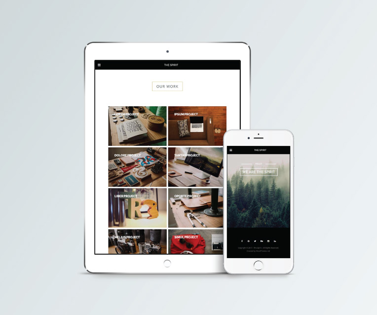 The Spirit - Creative Multipurpose Adobe Muse Template by MuseShop.net - Features Image 2