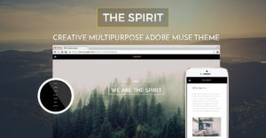 The Spirit - Creative Multipurpose Adobe Muse Template by MuseShop.net - Item Image