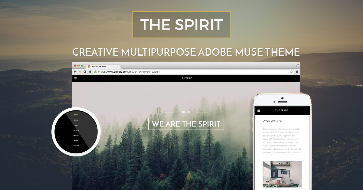 Muse templates muse themes for top muse designers museshop the spirit creative multipurpose adobe muse theme pronofoot35fo Image collections