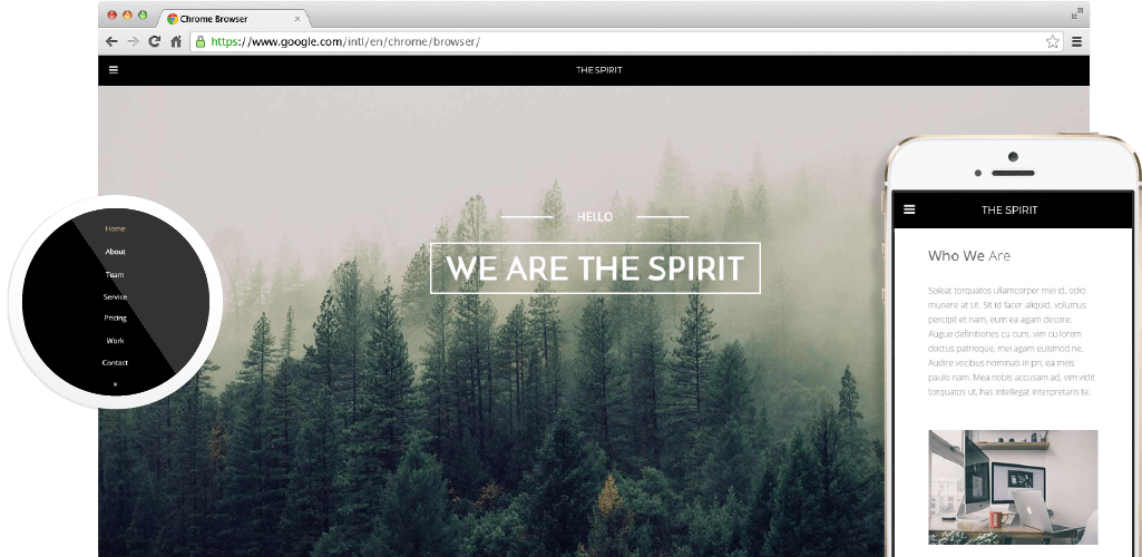 The Spirit - Creative Multipurpose Adobe Muse Template by MuseShop.net - Item Main Image