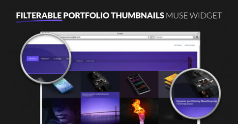 Filterable Portfolio Adobe Muse Widget by MuseShop.net - Featured Image