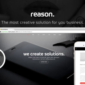 Reason - Creative Modern Adobe Muse Template by MuseShop.net - Featured Image