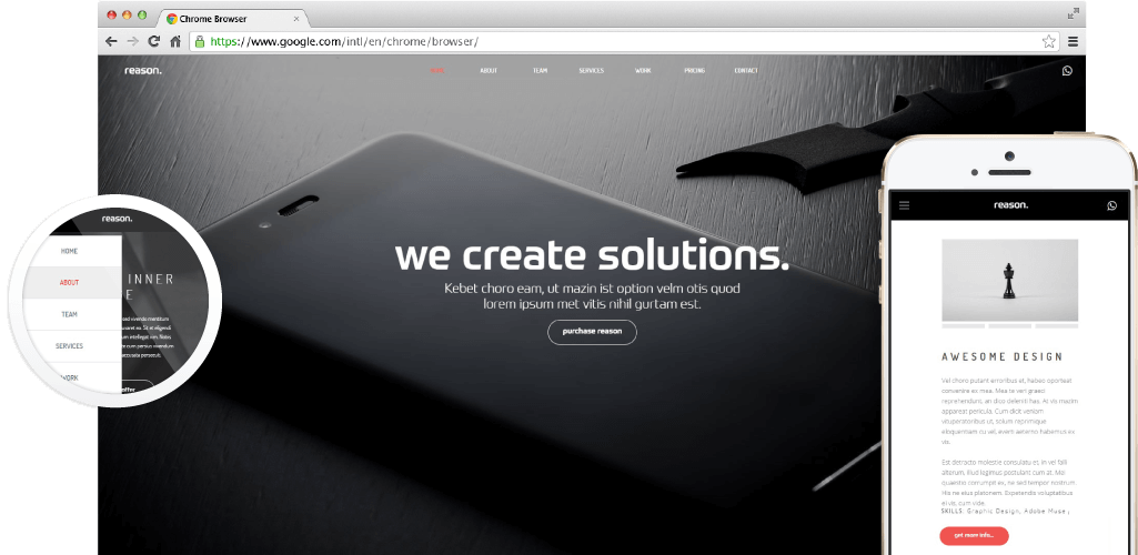 Reason - Creative Modern Adobe Muse Template by MuseShop.net - Theme Preview Image