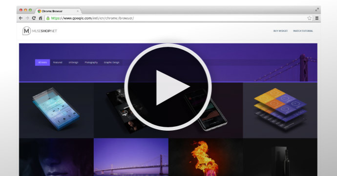 Video Tutorial - Filterable Portfolio Thumbnails in Adobe Muse - MuseShop.net