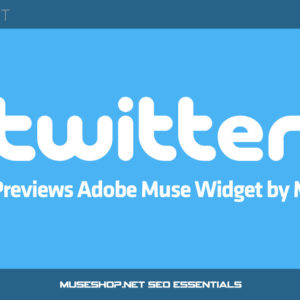 Twitter large Image Previews Adobe Muse Widget by MuseShop.net - Product Image