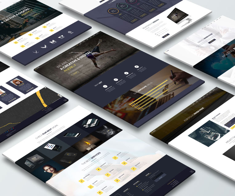 The Spark Adobe Muse Theme by MuseShop.net - Features 1 Image