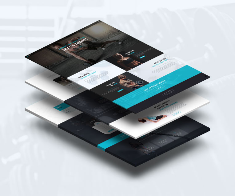 Fit Gym Adobe Muse Template by MuseShop.net - Features Image