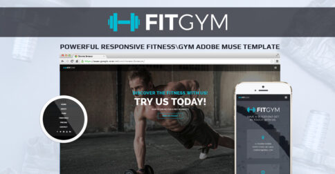 Fit Gym Adobe Muse Template by MuseShop.net - Product Image