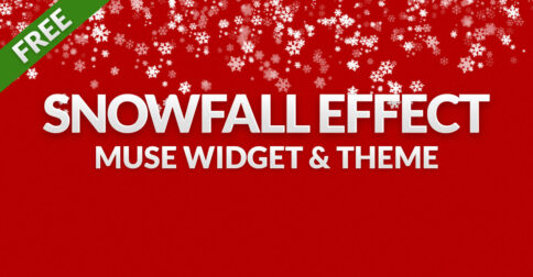 Snowfall Effect Muse Widget and Winter Holidays Muse Theme by MuseShop.net - Product Image