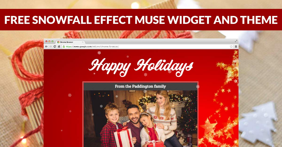 FREE Snow Effect Muse Widget and Winter Holidays Muse Theme
