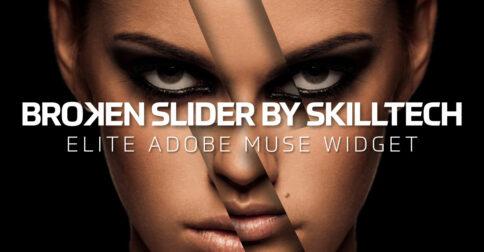 Broken Slider Adobe Muse Hero Slider Widget by MuseShop.net - Product Image