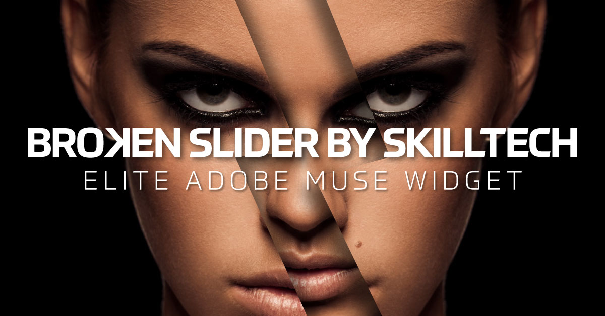 Broken Slider for Adobe Muse | Superior Muse Widget